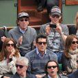 Raphaël et Mélanie Thierry en amoureux à Roland-Garros 2012 dans l'après-midi du vendredi 8 juin, à l'occasion des demi-finales masculines (Nadal/Ferrer et Djokovic/Federer).