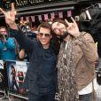 Tom Cruise et Russel Brand à l'avant-première de  Rock Forever , le 10 juin 2012 à Londres.