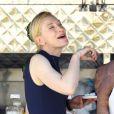 Cate Blanchett sur le tournage de  Knight of Cups  de Terrence Malick, à Los Angeles le 9 juin 2012.