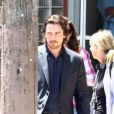 Christian Bale sur le tournage de  Knight of Cups  de Terrence Malick, à Los Angeles le 9 juin 2012.