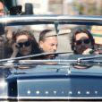 Natalie Portman et Christian Bale sur le tournage de  Knight of Cups  de Terrence Malick. Los Angeles, le 4 juin 2012.