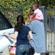 Kristin Davis, son homme Aaron Sorkin et la petite merveille Gemma Rose le 3 juin 2012 à Los Angeles