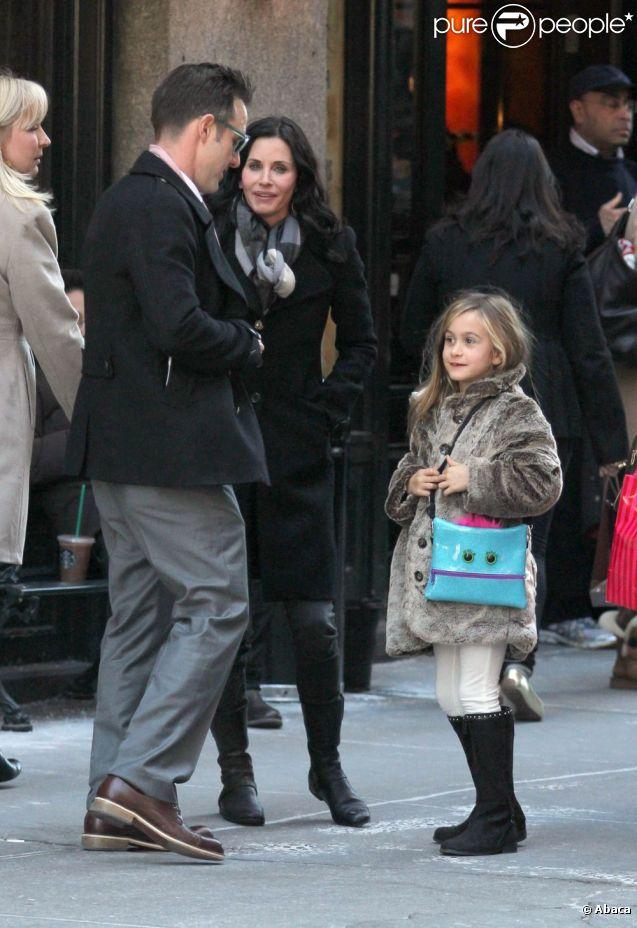 David Arquette, Courteney Cox et leur fille Coco en février 2012