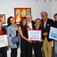 Jamelissa lors de la vente aux enchères des toiles de Florence Cassez, à Paris, le 16 juin 2012.