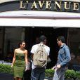 Kanye West et Kim Kardashian sortent de L'Avenue à Paris le 17 juin 2012