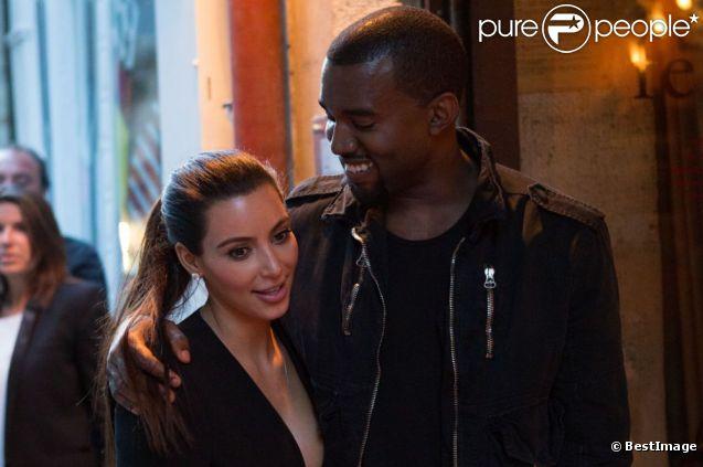 Kim Kardashian et Kanye West vont dîner au restaurant Ferdi, à Paris, le 17 juin 2012