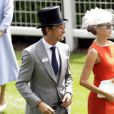 Jenson Button et Jessica Michibata lors de la seconde journée de la Royal Ascot à Ascot le 20 juin 2012