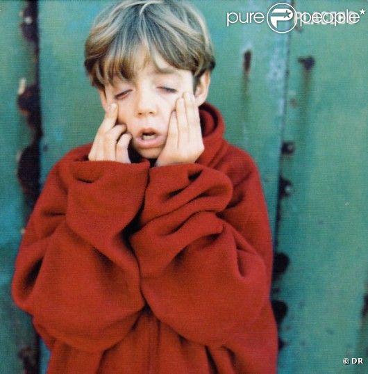 David Fox sur la pochette du premier album de Placebo, en 1996.