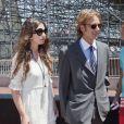 Andrea Casiraghi et Tatiana Santo Domingo le 29 mai 2011 au Grand Prix de Monaco.   Andrea Casiraghi et Tatiana Santo Domingo, après 7 ans d'amour, se sont fiancés ! La princesse Caroline de Hanovre s'est fait une joie d'annoncer les fiançailles de son fils aîné le 4 juillet 2012.