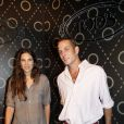 Andrea Casiraghi et Tatiana Santo Domingo lors d'une soirée Tod's à l'ambassade d'Italie à Paris, le 2 octobre 2011. Leurs fiançailles ont été annoncées le 4 juillet 2012 par la princesse Caroline de Hanovre, dont Andrea est le fils aîné.