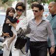 Tom Cruise et Katie Holmes avec leur fille Suri en 2008
