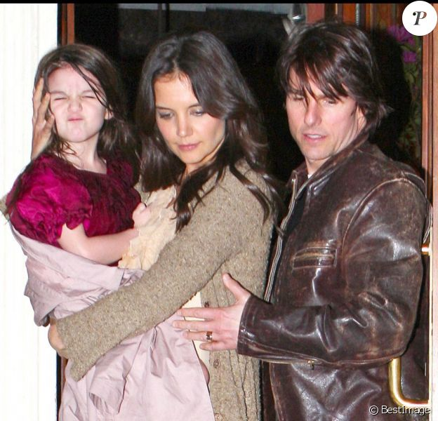 Tom Cruise, Katie Holmes et leur fille en 2011