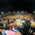Pas moins de 12 000 téléspectateurs lors du concert de Tout le monde chante contre le cancer le week-end du 6 et 7 juillet 2012 à Villefranche de Rouergue dans l'Aveyron à l'occasion de la 7e édition du Festival