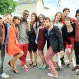 Les stars de Plus Belle La Vie lors du concert de Tout le monde chante contre le cancer le week-end du 6 et 7 juillet 2012 à Villefranche de Rouergue dans l'Aveyron à l'occasion de la 7e édition du Festival