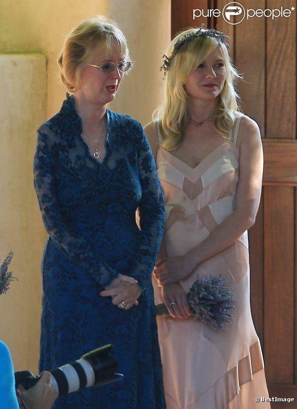 Kirsten Dunst, demoiselle d'honneur du mariage de sa meilleure amie à Santa Barbara le 15 juillet 2012