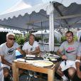 Mansour Bahrami, Cédric Pioline et David Ginola, lors du tournoi  Classic Tennis Tour , les jeudi 12 et vendredi 13 juillet à St-Tropez.