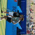 Cyril Hanouna et Fabrice Santoro, lors du tournoi  Classic Tennis Tour , les jeudi 12 et vendredi 13 juillet à St-Tropez.