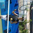 Nagui, lors du tournoi  Classic Tennis Tour , les jeudi 12 et vendredi 13 juillet à St-Tropez.