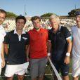 Cédric Pioline, Fabrice Santoro, Bjorn Borg et John McEnroe, lors du tournoi  Classic Tennis Tour , les jeudi 12 et vendredi 13 juillet à St-Tropez.
