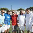 Mansour Bahrami et Henri Leconte ont fait équipe en double, lors du tournoi  Classic Tennis Tour , les jeudi 12 et vendredi 13 juillet à St-Tropez.