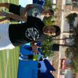Cyril Hanouna, lors du tournoi  Classic Tennis Tour , les jeudi 12 et vendredi 13 juillet à St-Tropez.