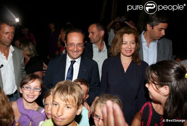 Le président François Hollande et Valérie Trierweiler viennent passer leurs vacances dans le fort de Bregançon à Bormes-les-Mimosas, le 2 août 2012