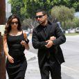 Eva Longoria, accompagnée de l'acteur Wilmer Valderrama, quitte les funérailles de Lupe Ontiveros le 3 août 2012 à Pico Rivera, près de Los Angeles.