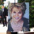 Portrait de l'actrice Lupe Ontiveros lors de ses funérailles le 3 août 2012 à Pico Rivera