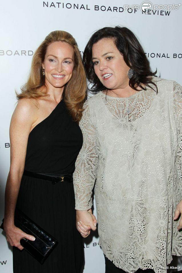 Rosie O'Donnell et sa fiancée Michelle Rounds à New York le 10 janvier 2012
