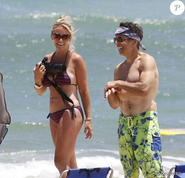 Ben Stiller et sa femme Christine Taylor à Hawaï le 5 août 2012