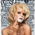 Jessica Simpson en couverture d'Esquire en 2008, une photo qui fait référence à celle avec Marilyn Monroe en 1965