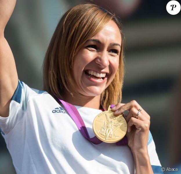 Jessica Ennis, championne olympique de l'heptathlon aux JO de Londres, en août 2012.