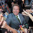 Arnold Schwarzenegger lors la projection d'Expendables 2 à Paris le 9 août 2012