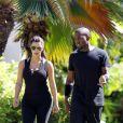 Kim Kardashian et Kanye West font leur sport à Hawaï le 11 août 2012