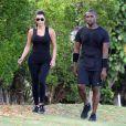 Amoureux, Kim Kardashian et Kanye West font leur sport à Hawaï le 11 août 2012