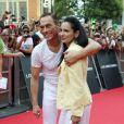 Jean-Claude Van Damme et sa femme Gladys Portugues à Madrid pour la présentation d'Expendables 2 en août 2012