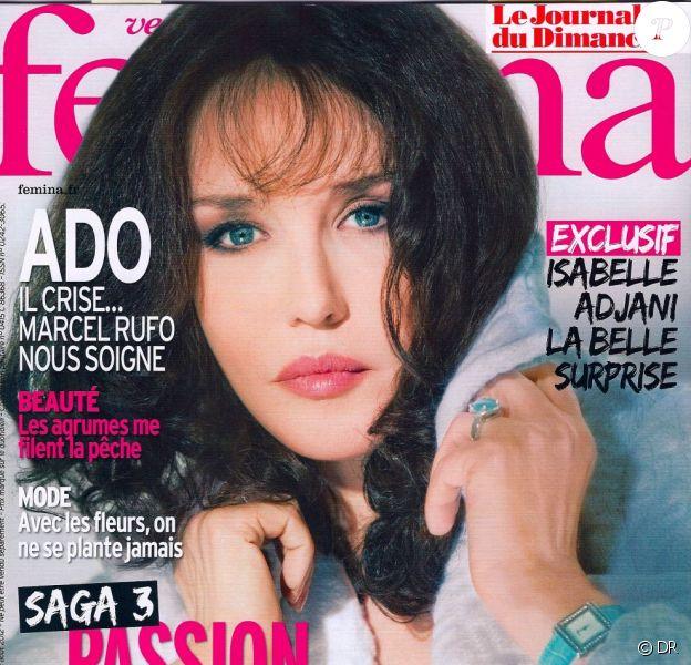 Isabelle Adjani en couverture de Version Femina - 12 août 2012