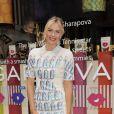 """Maria Sharapova lors du lancement de sa nouvelle """"ligne"""" de bonbons Sugarpova à New York le 20 août 2012"""