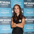Natalie Portman lors du Women for Obama à Las Vegas, le 25 août. C'est sa première apparition officielle depuis son mariage avec Benjamin Millepied, le 4 août.