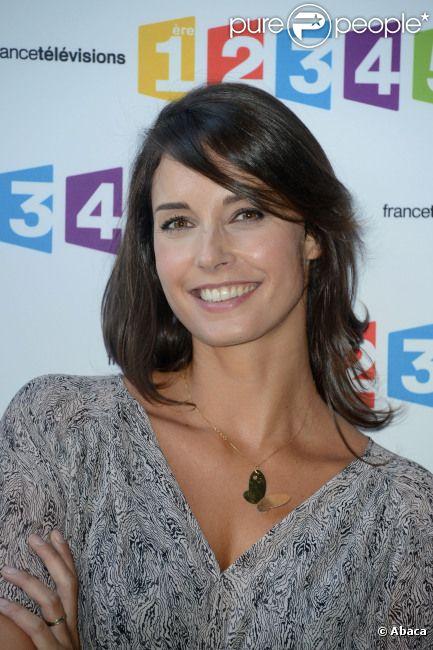 Julia Vignali lors de la conférence de rentrée de France Télévisions le 28 août 2012 à Paris