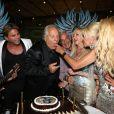 Entouré de tous ses amis, Massimo Gargia fête ses 72 ans au VIP Room de St-Tropez, le samedi 1er septembre 2012.