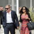 Salma Hayek et son mari François-Henri Pinault, main dans la main à leur arrivée à Venise. Le 30 août 2012.