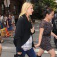 Claire Danes sur le tournage de Girls, à New York le 4 septembre 2012