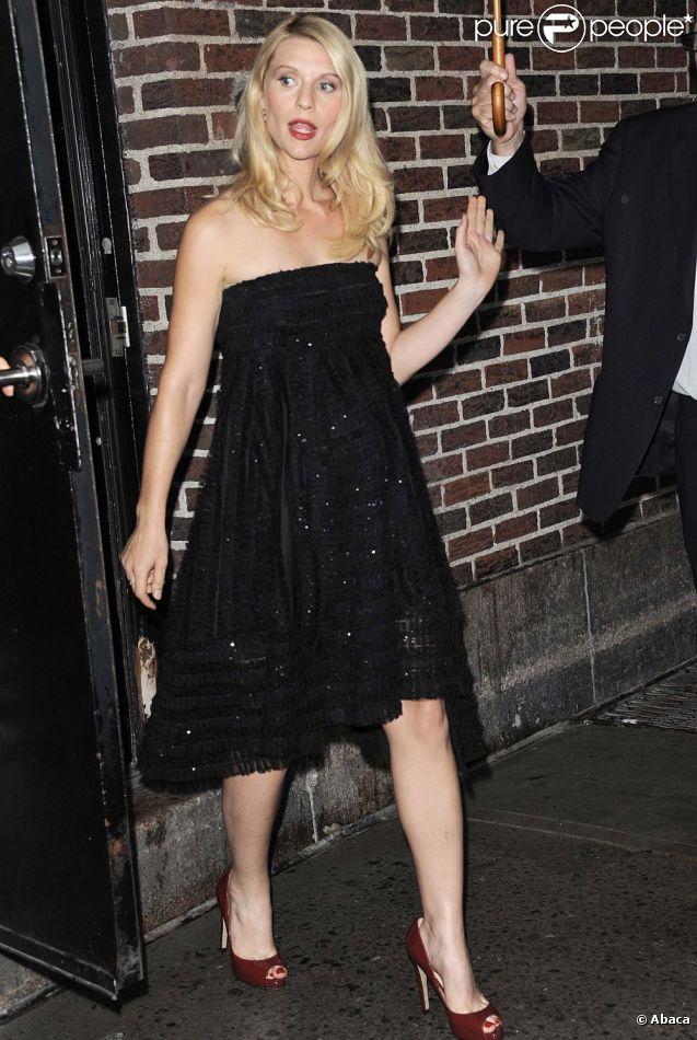 Claire Danes sort du Late Show with David Letterman, à New York le 4 septembre 2012