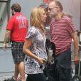 Claire Danes sur le tournage de la série Girls, à New York le 4 septembre 2012