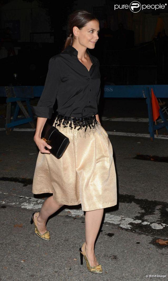 Première apparition publique officielle de Katie Holmes depuis son divorce aux 2012 Style Awards à New York, le 5 septembre 2012.