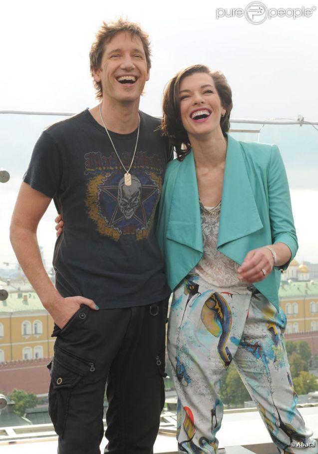 Milla Jovovich couple