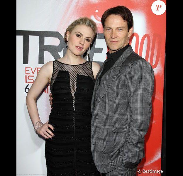 Anna Paquin et Stephen Moyer en mai 2012 à Los Angeles lors de la présentation de la cinquième saison de True Blood