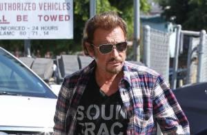 Johnny Hallyday : Dîner sympa avec Omar Sy après une longue journée de studio