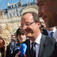 François Hollande et sa compagne Valérie Trierweiler ont accueilli les visiteurs venus découvrir le palais de l'Elysée dans le cadre des Journées du patrimoine le 16 septembre 2012 à Paris